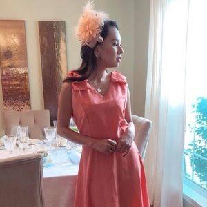 Peach bow dress